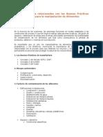 Aspectos Legales Relacionados Con Las Buenas Prácticas de Manufactura Para La Manipulación de Alimentos