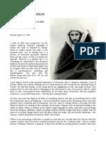 'Iman and Education', by Shaykh Dr. Abdalqadir as-Sufi (Klöntal, April 14, 1990)