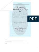 2009-2010 Special Assembly Day Program- The Time Left is Reduced