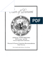 Danvers 2014 Town Meeting Warrant and Finance Committee recommendations