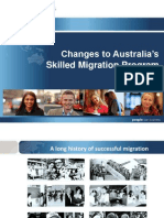 Australian Government Skilled Migration Program Changes 2012 www.immi.gov.au