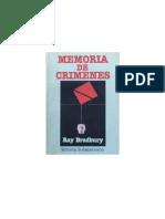 Ray Bradbury - Memoria de Crimenes