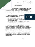 Rome Declaration, 1984