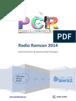 PCR Awaz 103.1FM - Ramzan 2014 Packages