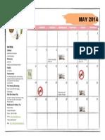 May, 2014 Calendar