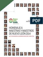 Homenaje a maestras y maestros de Nuevo León 2014
