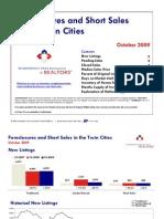 Twin Cities Foreclosures & Short Sales Ocotober 2009