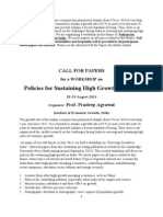 Call for Papers_Growth Workshop at Delhi With Financial Support-Agrawal