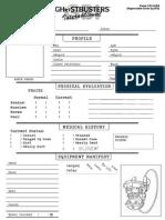 Ghostbusters International RPG - MY Sheet