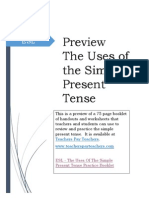 Preview - The Uses of the Simple Present Tense