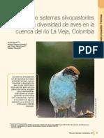 Influencia de Sistemas Silvopastoriles en La Biodiverisdad de Aves de La Cuenca Del Rio La Vieja Ct