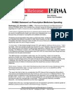 PHRMA - IMS Forecast_PhRMA Response 09-11-11