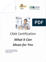 CMA Certification What It Can Mean for You