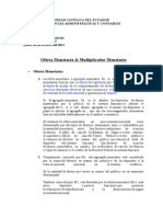 Oferta Monetaria & Multiplicador Monetario