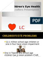 Children's Eye Health a Lenscrafters Presentation