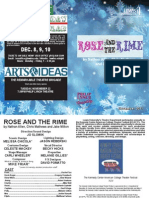 Rose and the Rime Playbill