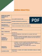 formato agenda didctica 1
