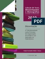 A Subsidiariedade Como Principio de Organização Do Estado e Sua Aplicação No Federalismo