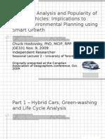 LCAPopularity of Hybrid Vehicles