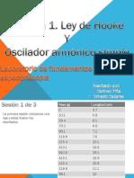 Ley de Hooke y Oscilador Armónico
