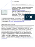 Flexible and Strategic Masculinities:The Working Lives and GenderedIdentities of Male Migrants in London