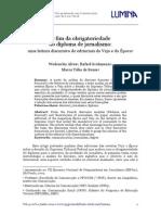 Alves & Grohmann - O Fim Da Obrigatoriedade Do Diploma de Jornalismo