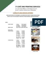 Zapzone Price List