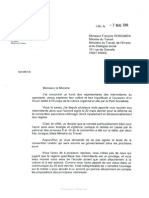 Courrier de Martine Aubry à François Rebsamen