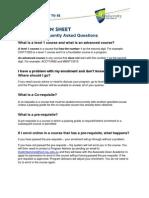 Enrolment FAQS T1 2014
