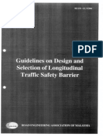 Guideline on Design and Selection of Longitudinal Traffic Safety Barrier