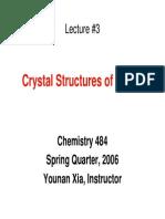 Notes Slides 3 Crystal Structures of Metals CHEM484Aspr06