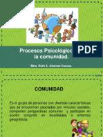 Procesos Psicológicos de La Comunidad.