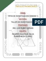 Tipos de Investigación Unidad 1 Vargas