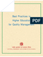Best Practise in Quality Management in Higher Education