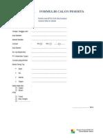 FormulirpendaftaranCalonPesertaSANLATBPUN2014