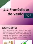 2.2 Pronostico de Ventas