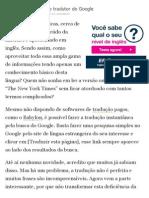 Aprenda Inglês Com o Tradutor Do Google _ Dicas de Inglês