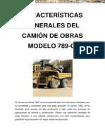 Manual Caracteristicas Camion Minero 789c Caterpillar