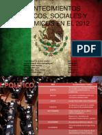 Acontecimientos Politicos, Sociales y Economicos en Mexico