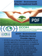 ECOH - Environmental Consulting Occupational Health Services Provider