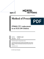 Method of Procedure PP8600 CPU Replacement in an HLR 200 Solution. - GH8600CR.18.01