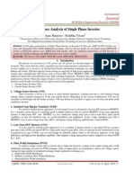 Performance Analysis of Single Phase Inverter