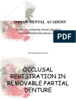Occlusal Registration in Removable Partial Denture / orthodontic courses by Indian dental academy