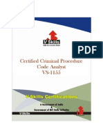 Criminal Procedure Code Analyst Certification