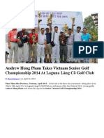 Andrew Hung Pham Takes Vietnam Senior Golf Championship 2014 at Laguna Lang Co Golf Club