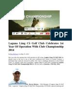 Laguna Lăng Cô Golf Club Celebrates 1st Year of Operation With Club Championship 2014
