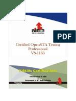 OpenSTA Testing Certification