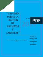 Resumen Sobre La Gestión de Archivos y Carpetas-Modulo IV