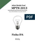 Analisis Bedah Soal SNMPTN 2013 Fisika IPA