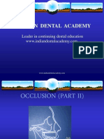 Occlusion Part II / orthodontic courses by Indian dental academy